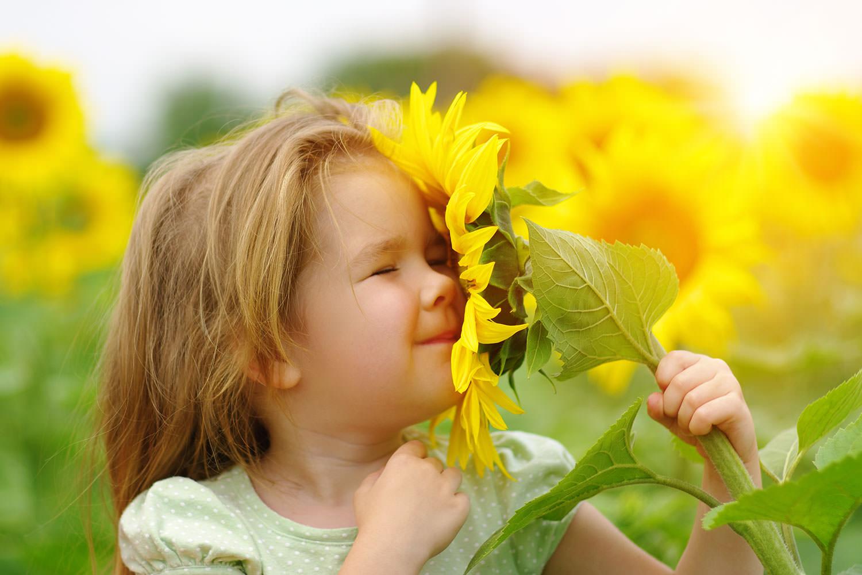 Wohnen am Klingertal Meissen - Blumen Kind Mädchen Fröhlich Pflanzen Wiese