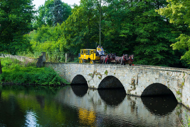 Wohnen am Klingertal Meissen - Kutsche Kutschfahrten Kremserfahrt Pferde Gaul Pferd